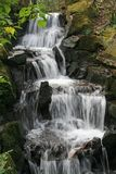 Waterfall. In Clyne gardens swansea wales uk royalty free stock image