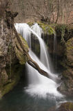 Waterfall. Small waterfall in the winter season Stock Images