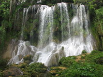 Waterfall. The high waterfall in cuban forest Royalty Free Stock Photo