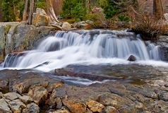 Waterfall. High in the mountains Royalty Free Stock Photography