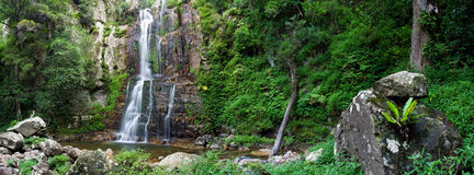 Waterfall. Panorama from Minammura Falls in Bundeena National Park - Australia stock images