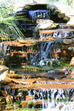 Waterfall. Close up of a waterfall in a garden Royalty Free Stock Photos