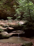 Waterfall. A quiet waterfall in Hocking Hills State Park, Ohio Royalty Free Stock Photography