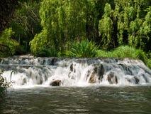 Waterfall. Nice waterfall at Monasterio de Piedra, Spain Stock Image