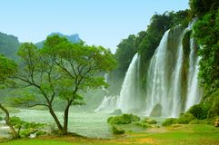 Waterfall. Ban Gioc waterfall in Vietnam stock photography