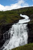 Waterfall. In summer in Norway Stock Image