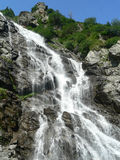 Waterfall. On Fagaras Mountains - Romania royalty free stock image