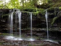 Waterfall. Image of waterfall , wild forest royalty free stock photography