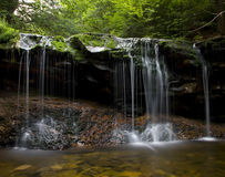 Waterfall. Image of waterfall , wild forest stock images