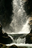 Waterfall. Closeup of a waterfall in the deep Royalty Free Stock Photography