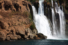 Waterfall. Big waterfall near Antalya, Turkey Stock Photo