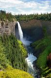 Waterfall. Helmcken Falls in British Columbia (Canada stock image