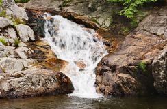 Waterfall. A waterfall over rock in Vermont Stock Images