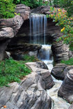 Waterfall. This is a shot of a man made waterfall at a local water park Royalty Free Stock Photo