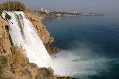 Waterfall. In Antalya, Turkey royalty free stock image