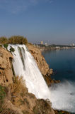 Waterfall. In Antalya, Turkey royalty free stock photography