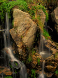 Waterfall. Movement between the roks of a river waterfall Royalty Free Stock Images