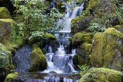 Waterfall. Garden waterfall Royalty Free Stock Image