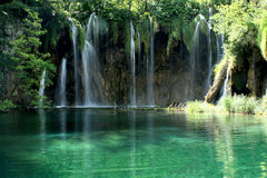 Waterfall. In the Plitvice National Park UNESCO World Heritage, Croatia stock photo