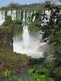 Waterfall. Iguassu falls Argentine Brazil royalty free stock images