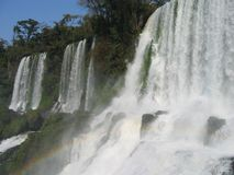 Waterfall. Iguassu falls Argentine Brazil royalty free stock photos