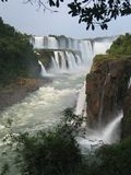 Waterfall. Iguassu falls, Argentine, Brazil royalty free stock photography