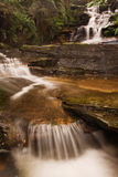 Waterfall. Misty waterfall in Blue mountains National park in NSW, Australia royalty free stock photo