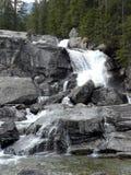 Waterfall. At High Tatras in Slovakia royalty free stock images
