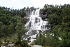 Waterfall. A beautiful waterfall in Norway Royalty Free Stock Photography