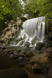 Waterfall. This waterfall is located in an old city park in the middle of Arnhem, The Netherlands stock photo