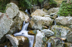 Waterfall. A small waterfall in Pilion Greece Royalty Free Stock Photography