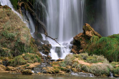 Waterfall. In Bosnia and Herzegovina between Mostar and Ljubuski royalty free stock image