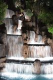 Waterfall. At night royalty free stock images