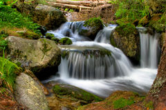 Waterfall. Small waterfall in slovakia. Nature in slovakia stock photo