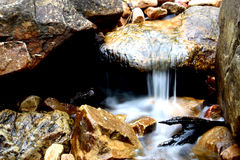 Waterfall. On rocks Royalty Free Stock Photo