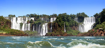 Waterfall. Iguazu Falls was short-listed as a candidate to be one of the New7Wonders of Nature by the New Seven Wonders of the World Stock Photography