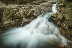 Waterfall above The Basin in New Hampshire's White Mountains. Stock Photography
