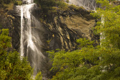 Waterfall Acqua Fraggia Italy. Waterfall Acqua Fraggia  from the town of Borgonuovo in north Italy Stock Images