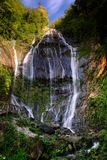 Waterfall of the acquapendente alpi apuane royalty free stock images