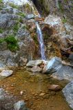 Waterfall in Adirondacks. Roaring Brook Falls near Keene, NY in the Adirondacks Stock Image