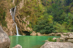 Waterfall on the Agura River in Sochi, HDR Stock Images