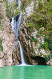 Waterfall on the Agura River in Sochi Stock Image