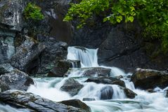 Waterfall on Alaska Stock Photography