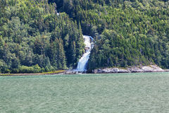 Waterfall in Alaska Stock Image