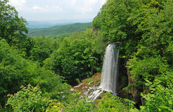 Waterfall and Allegheny Mountains Royalty Free Stock Image
