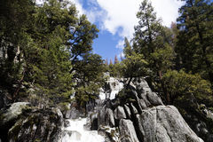 Waterfall Along Chilnualna Trail Yosemite National Park Californ Royalty Free Stock Photography