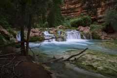 Waterfall along Havasu stock image
