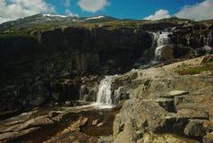 Waterfall along the Nordkalottleden Stock Images