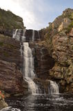 Waterfall along the path of the famous Otter Trail's fist day, South Africa Stock Image