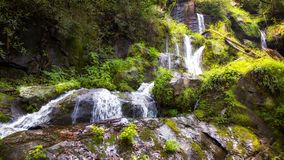 Waterfall Along Roaring Fork Motor Drive stock photo
